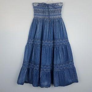 Lapis - strapless summer dress